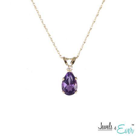 Pendentif en or Jewels 4 Ever de 10ct serti d'une améthyste - image 1 de 1