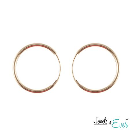 2efae9333 Jewels 4 Ever 10KT Yellow Gold 14.5 mm Hoop Earrings - image 1 of 1 ...