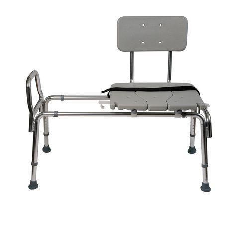 DMI Heavy-Duty Sliding Transfer Bench Shower Chair - image 1 of 5