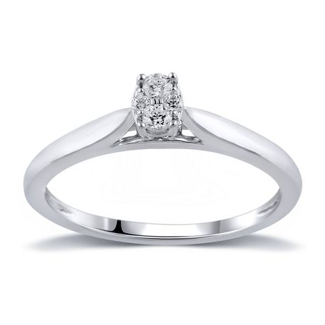 0.09Ct T.W. Diamond infini® Oval Fashion Ring in 10K White Gold - image 1 of 4
