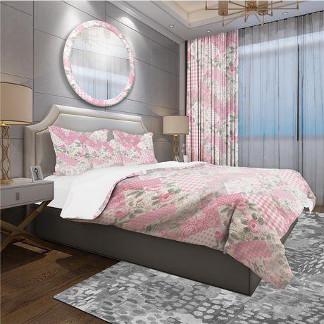 Designart Decorative Patchwork Floral Pattern Patterned Duvet Cover Set - image 1 de 1