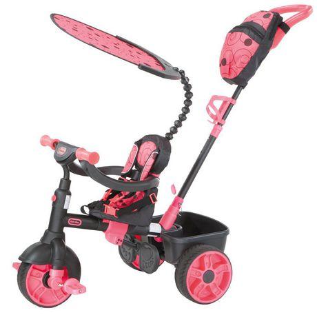 Tricycle 4 en 1, série de luxe, rose fluo - image 1 de 2