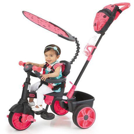 Tricycle 4 en 1, série de luxe, rose fluo - image 2 de 2