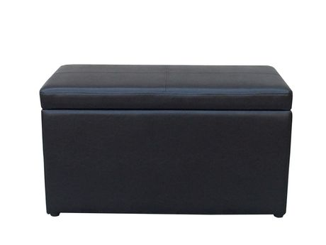 Red Label Faux Leather Hinged Storage Ottoman Walmart Canada