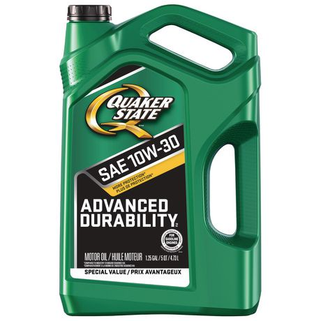 Quaker state advanced durability sae 10w 30 motor oil for Quaker state conventional motor oil