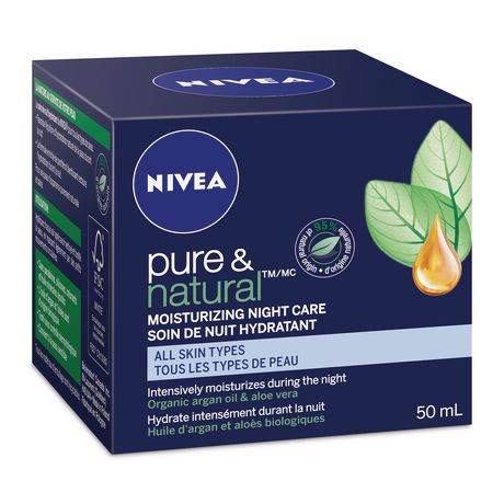 Nivea Pure & Natural Moisturizing Night Care Cream for All Skin Types - image 1 of 1