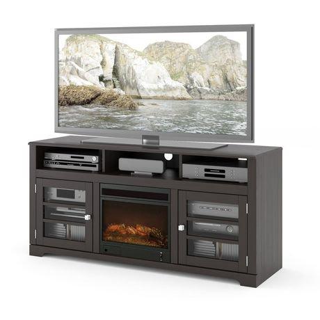 meuble pour t l viseur west lake de corliving en placage noir moka walmart canada. Black Bedroom Furniture Sets. Home Design Ideas