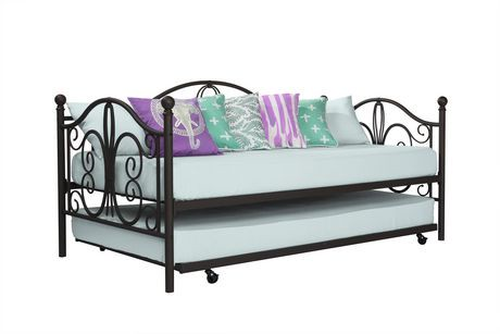 lit de jour en m tal bombay avec lit gigogne une place walmart canada. Black Bedroom Furniture Sets. Home Design Ideas