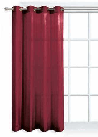 Panneau de fenêtre Mainstays en similisoie rouge - image 1 de 1