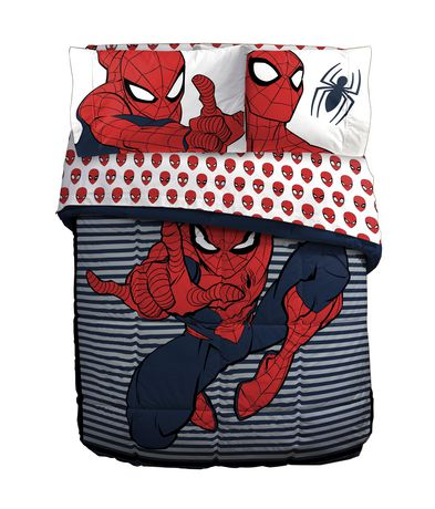 Spiderman Stripes Twin/Full Comforter - image 1 of 1