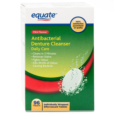 Equate Daily Care Antibacterial Denture Cleanser - image 1 of 2