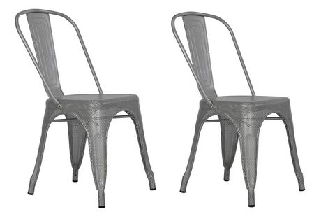 DHP Nova Silver Metal Mesh Dining Chairs