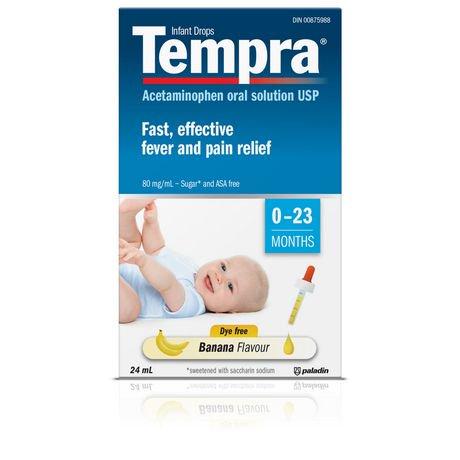 Tempra Infant Drops Banana Flavour Fever & Pain Relief ...
