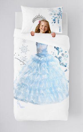 Ens housse de couette princess de gouchee design pour lit for Housse panier epicerie