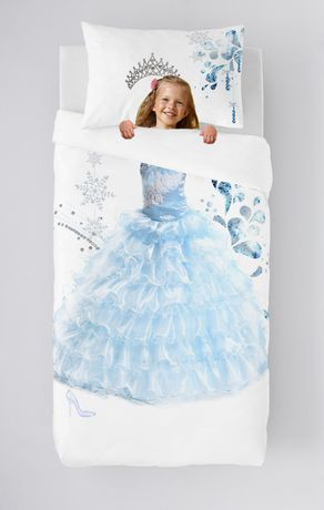 Ens housse de couette princess de gouchee design pour lit for Housse lit simple