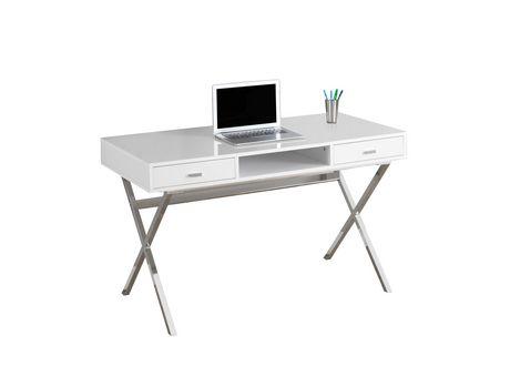 Wondrous Monarch Specialties Inc Monarch Specialties Glossy White Computer Desk Interior Design Ideas Inesswwsoteloinfo