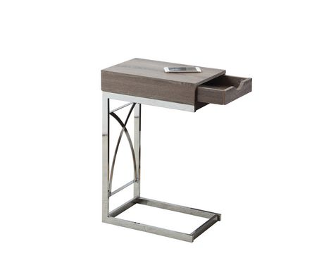 Table d 39 appoint monarch specialties en m tal chrom for Table exterieur walmart