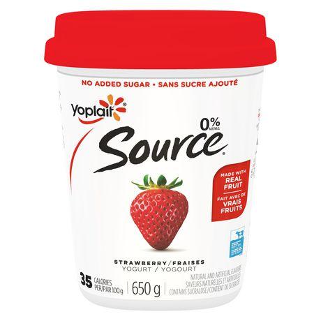 Yoplait Source Strawberry Yogurt