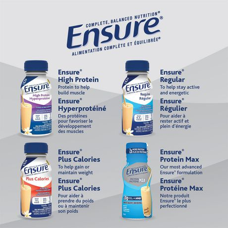 Ensure® Regular, Complete Balanced Nutrition, Vanilla, 6 x 235 mL - image 9 of 9