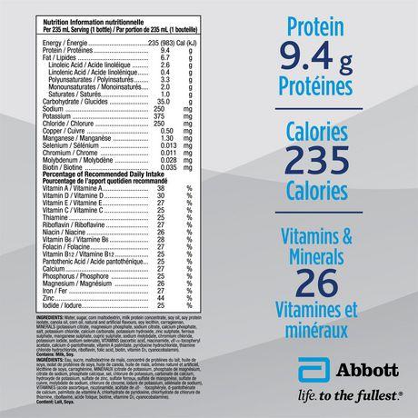 Ensure® Regular, Complete Balanced Nutrition, Vanilla, 6 x 235 mL - image 8 of 9