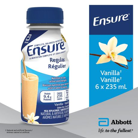 Ensure® Regular, Complete Balanced Nutrition, Vanilla, 6 x 235 mL - image 3 of 9