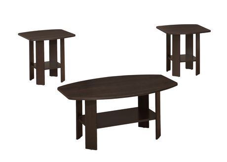 Monarch Specialties 3Piece Table Set Walmartca