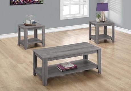 Monarch Specialties 3-Piece Grey Table Set | Walmart Canada