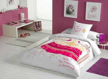 Ens housse de couette princess pink de gouchee design for Housse lit simple