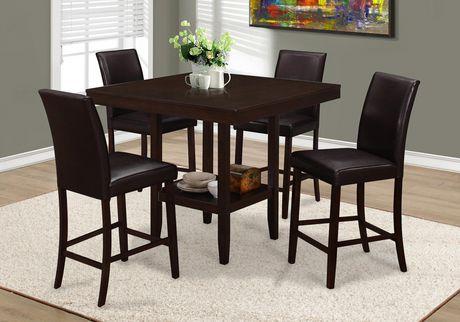 Table de salle manger de hauteur comptoir monarch for Hauteur d une table de salle a manger