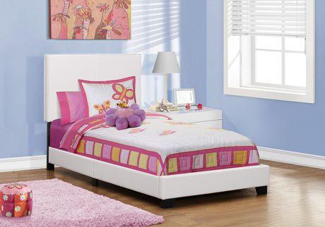Cadre De Lit Monarch Specialties En Similicuir Blanc Walmart Canada - Cadre de lit simili cuir