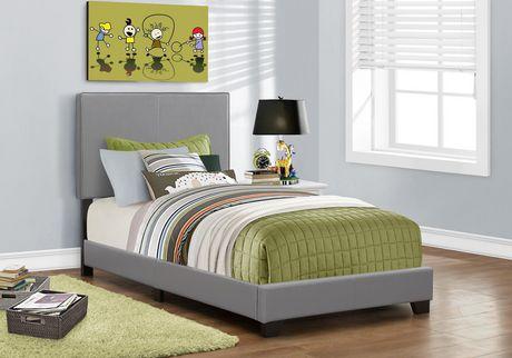 Cadre De Lit Monarch Specialties En Similicuir Gris Walmart Canada - Cadre de lit simili cuir