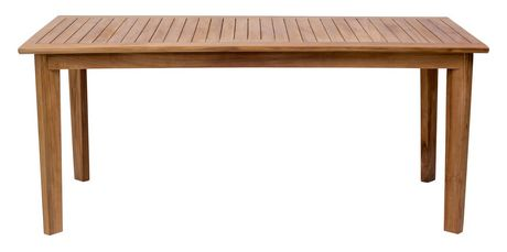 Zuo Modern Outdoor 1 Piece Teak Natural Nautical Dining Table