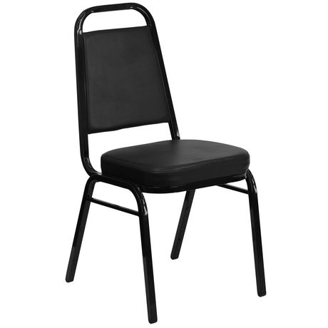 Flash Furniture Hercules Series Trapezoidal Back Stacking Banquet Chair in Black Vinyl - image 1 of 5