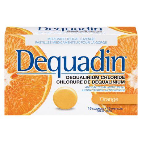 Pastille médicamenteuse pour la gorge Dequadin antibactérienne-antifongique à chlorure de déqualinium à saveur d'orange - image 2 de 4