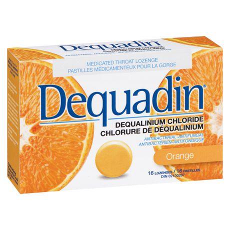 Pastille médicamenteuse pour la gorge Dequadin antibactérienne-antifongique à chlorure de déqualinium à saveur d'orange - image 3 de 4