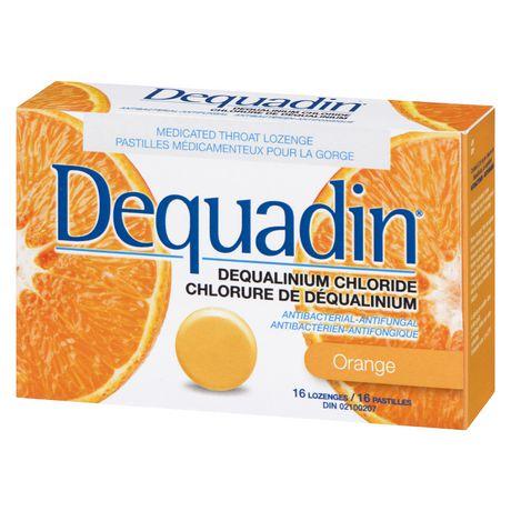 Pastille médicamenteuse pour la gorge Dequadin antibactérienne-antifongique à chlorure de déqualinium à saveur d'orange - image 4 de 4