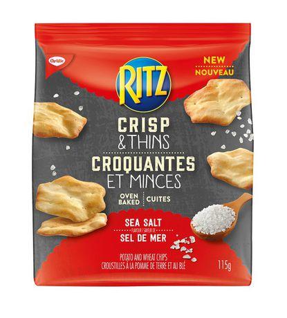 Croustilles à la pomme de terre et au blé Ritz Croquantes et Minces par Christie à saveur de sel de mer - image 1 de 2