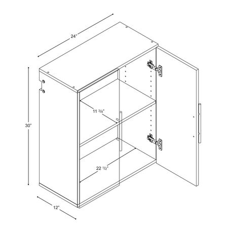 Armoire supérieure accrochable HangUps de Prepac de 24po - image 4 de 5