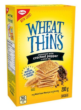 Christie Wheat Thins Cracked Pepper and Olive Oil Crackers ...