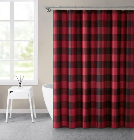 Canadiana Buffalo Plaid 70X72 Shower Curtain - image 1 of 1