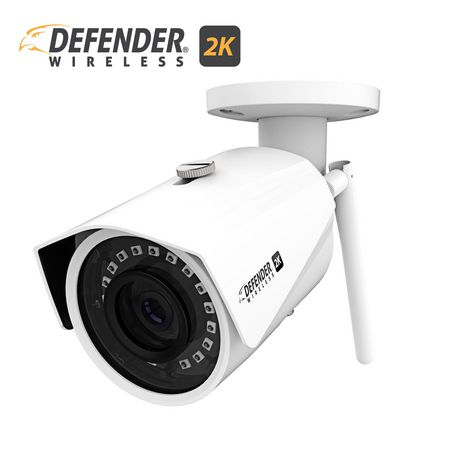 Defender 2K (4MP) Wireless Wide Angle, Night Vision IP Security Camera with  Remote Mobile Viewing  IP2KCB1