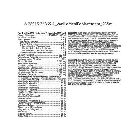 Substitut de repas régulier Equate à saveur de vanille - image 2 de 2