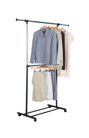 Great Mainstays 2 Tier Adjustable Garment Rack