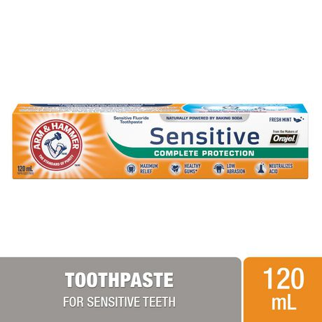 Arm & Hammer Sensitive Complete Protection Toothpaste, 120mL - image 1 of 7