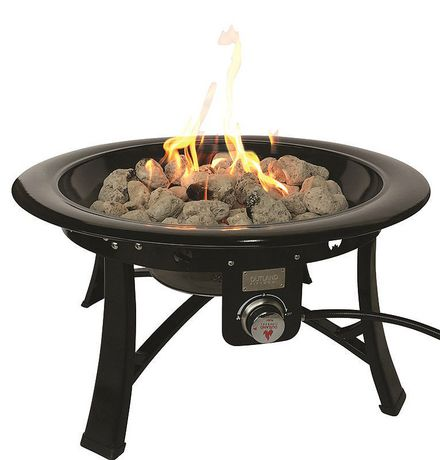 Outland firebowl kerrisdale propane fire pit 860 for Table exterieur walmart