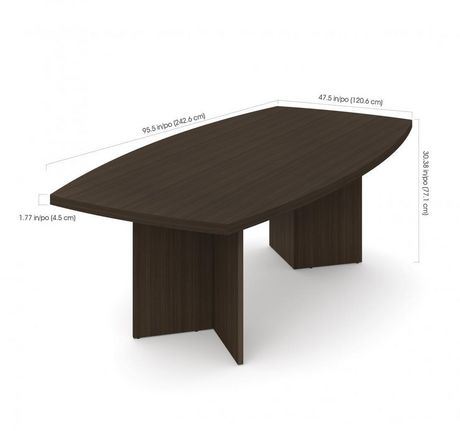 """Bestar Boat-Shaped Conference Table with 1 3/4"""" Melamine Top - image 2 of 2"""
