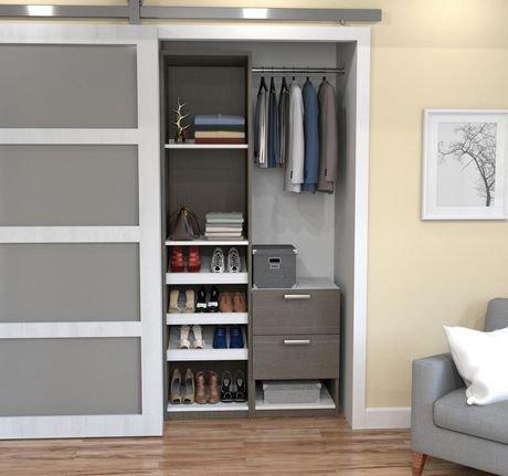 bestar cielo syst me de rangement deluxe pour penderie 39 walmart canada. Black Bedroom Furniture Sets. Home Design Ideas
