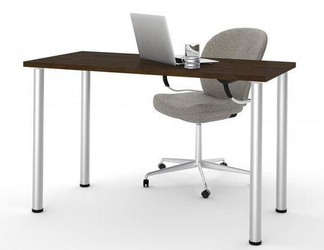 Bestar Table avec pattes de métal rondes - image 1 de 2