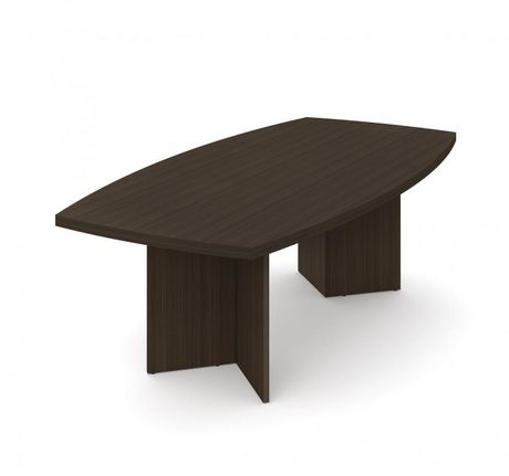 """Bestar Boat-Shaped Conference Table with 1 3/4"""" Melamine Top - image 1 of 2"""