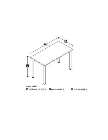 Bestar Table avec pattes de métal rondes - image 2 de 2